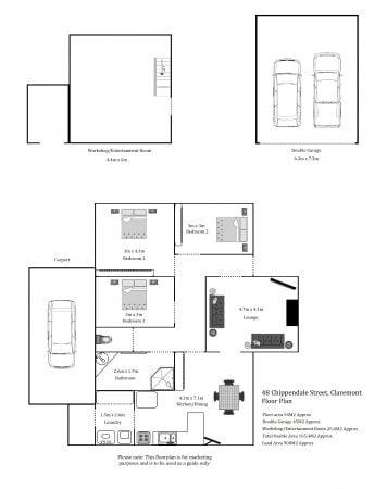 Floorplan 48 Chippendale Street Claremont